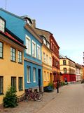 Malmo street - Sweden. Street from the old town of Malmo - Sweden stock photos