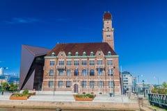 MALMO SVERIGE - AUGUSTI 27, 2016: Maritimt universitet för värld i Malmo, Swed royaltyfria foton