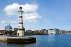 Malmo, Sweden. Lighthouse in centre of city Malmo, Sweden Royalty Free Stock Photography
