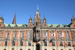 Malmo, Sweden. The Town Hall. City in Scania county (Skane in Swedish) and Oresund region Stock Images