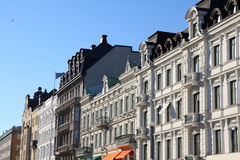 Malmo, Sweden. Colorful old architecture. City in Scania county (Skane in Swedish) and Oresund region Stock Images