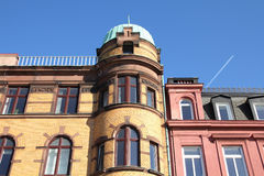 Malmo, Sweden. Colorful old architecture. City in Scania county (Skane in Swedish) and Oresund region Stock Photo