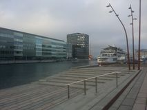 Malmo. Sweden channel evening royalty free stock photography