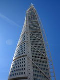 Malmo, Sweden city with famous Turning Torso. Royalty Free Stock Photo