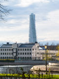 Malmo, Sweden. Downtown Malmo with old and modern buildings, Sweden Royalty Free Stock Image