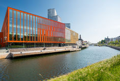 MALMO, SWEDEN - JUNE 6, 2017: Malmo Live. Contemporary modern architecture. Clear sunny day Royalty Free Stock Images