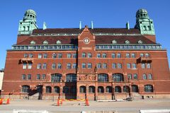 Malmo, Sweden. The main Post Office. City in Scania county (Skane in Swedish) and Oresund region Royalty Free Stock Images