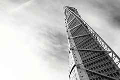 Malmo, Sweden - March 07, 2017: Turning Torso. Malmo, Sweden - March 07, 2017: Malmo Turning Torso, Distinctive Swedish City Landmark is designed by Spanish Royalty Free Stock Photo