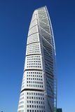Malmo, Sweden. MARCH 8, 2011: Turning Torso skyscraper in Malmo. It was designed by Santiago Calatrava. At 190 meters it is the tallest building of Royalty Free Stock Photos