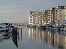 MALMO, SWEDEN marina on August 7, 2013 Stock Photos