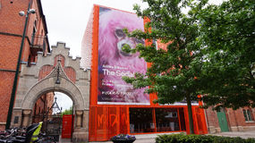 MALMO, SWEDEN - MAY 31, 2017: entrance of Moderna museet Malmö museum of modern and contemporary art located in Malmö, Sweden. Royalty Free Stock Photos