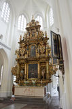 MALMO, SWEDEN - MAY 31, 2017: Interior of the church of Sankt Petri kyrka, a large church in Malmö, Sweden.  Stock Photo