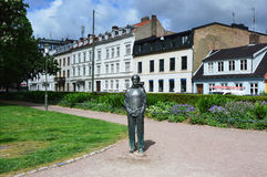 MALMO, SWEDEN - MAY 31, 2017: Statue Det Svenska tungsinnet in Altonaparken park designed by Marie-Louise Ekman in Malmo, Sweden.  Stock Photo