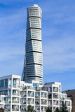 MALMO, SWEDEN - OCTOBER 2: Turning Torso facade on October 2 , 2015 in Malmo, Sweden. Stock Images