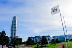 MALMO, SWEDEN - OCTOBER 2: Turning Torso facade on October 2 , 2015 in Malmo, Sweden. Stock Photography