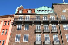 Malmo. Sweden - old architecture. City in Scania county (Skane in Swedish) and Oresund region Royalty Free Stock Photography