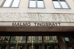 Malmo tingsrätt Fotografering för Bildbyråer
