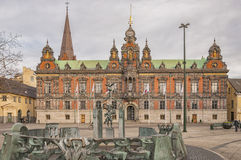 Malmo Town Hall. The town hall building situated in the Swedish city of Malmo Royalty Free Stock Photos
