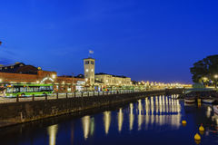 The Malmo transportation station. The beautiful and historical Malmo transportation station at night Stock Photos