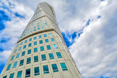 Malmo Turning Torso, Distinctive City Landmark Royalty Free Stock Images