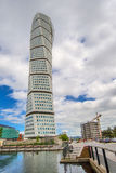 Malmo Turning Torso, Distinctive City Landmark. MALMO, SWEDEN - JUNE 25, 2015: Malmo Turning Torso, City Landmark and Tallest Building in Scandinavia, designed Stock Photos