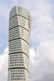 Malmo Turning Torso. Turning Torso is a residential skyscraper in Malmo, Sweden and the tallest building in the Nordic countries Royalty Free Stock Images