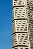 Malmo Turning Torso. MALMO, SWEDEN - DECEMBER 31, 2015: Malmo Turning Torso as Distinctive Landmark of this Swedish Town. Malmo is the capital city in Skane Stock Photo