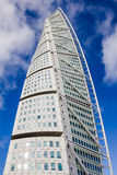 Malmo Turning Torso. MALMO, SWEDEN - FEBRUARY 26 , 2016: Malmo Turning Torso, most famous skyscraper in Scandinavia. Designed by Spanish Neo-Futurist architect Royalty Free Stock Photo