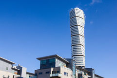 Malmo Turning Torso. MALMO, SWEDEN - FEBRUARY 26 , 2016: Malmo Turning Torso, most famous skyscraper in Scandinavia. Designed by Spanish Neo-Futurist architect Royalty Free Stock Image