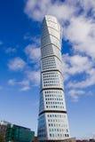 Malmo Turning Torso. MALMO, SWEDEN - FEBRUARY 26 , 2016: Malmo Turning Torso, most famous skyscraper in Scandinavia. Designed by Spanish Neo-Futurist architect Stock Images