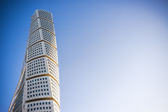 Malmo Turning Torso. MALMO, SWEDEN - JANUARY 4, 2016: Malmo Turning Torso as Distinctive Landmark of this Swedish Town. Malmo is the capital city in Skane County Stock Image