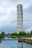 Malmo Turning Torso. MALMO, SWEDEN - JUNE 29, 2015: Malmo Turning Torso, in Oresund West Harbor Area, Tallest Building in Sweden and Scandinavia, Reaching a Stock Photos