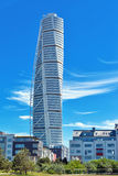 Malmo Turning Torso. MALMO, SWEDEN - JUNE 26, 2015: Malmo Turning Torso, Tallest Building in Sweden and whole Scandinavia, Reaching a height of 190 metres with Stock Photography