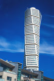 Malmo Turning Torso. MALMO, SWEDEN - JUNE 26, 2015: Malmo Turning Torso, Tallest Building in Sweden and whole Scandinavia, Reaching a height of 190 metres with Royalty Free Stock Images