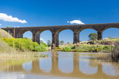 Malmsbury Viaduct. A 19th century viaduct in Malmsbury, Victoria, Australia on a clear spring day Royalty Free Stock Image