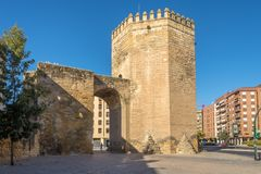 Malmureta tower in the streets of Cordoba in Spain. CORDOBA,SPAIN - OCTOBER 2,2017 - Malmureta tower in the streets of Cordoba. Cordoba is a city in Andalusia Stock Images