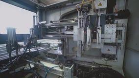 Malningmaskin Profil för PVC för impost för malningimpostmalning arkivfilmer