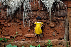 Malnourished Children in India. August 24, 2012 Dhani Village,Orissa,India,Asia-A malnourished girl at the remote village of Orissa-India Stock Image
