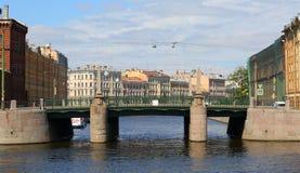 Malo-Kalinkin most w St Petersburg obrazy royalty free