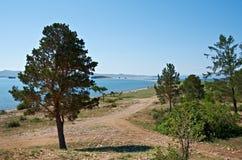 Maloe More strait. Lake Baikal Stock Images