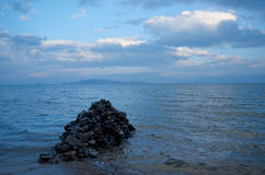 Maloe More strait. Lake Baikal Stock Photos