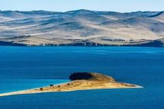 Maloe More Strait View, Cape Uyuga. Baikal lake Stock Photo
