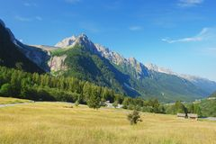 Maloja, ελβετικές Άλπεις Στοκ εικόνες με δικαίωμα ελεύθερης χρήσης
