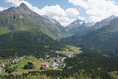 Maloja. Engadin Graubünden Switzerland Royalty Free Stock Image