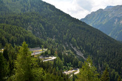 Maloja Pass, high mountain pass in the Swiss Alps Stock Photography