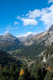 Maloja Pass near St. Moritz,. Switzerland Royalty Free Stock Photography