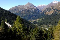Maloja-view. View from the Maloja-pass in the direction of Italy Stock Images