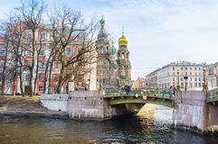 The Malokonushenny Bridge in St Petersburg Royalty Free Stock Photos