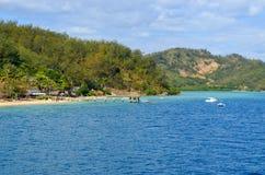 Malolo ö, Mamanucas, Fiji Royaltyfria Foton