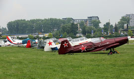 Malopolski Piknik Lotniczy (Air festival) in Cracow, Poland Royalty Free Stock Photo